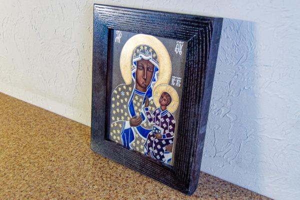 Икона Ченстоховской Божией Матери № 07 из мрамора, каталог икон, изображение, фото 3