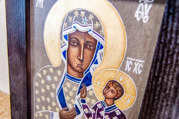 Икона Ченстоховской Божией Матери № 07 из мрамора, каталог икон, изображение, фото 4