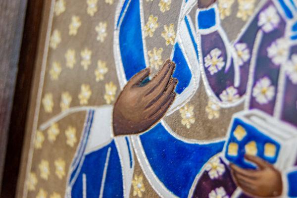 Икона Ченстоховской Божией Матери № 07 из мрамора, каталог икон, изображение, фото 6