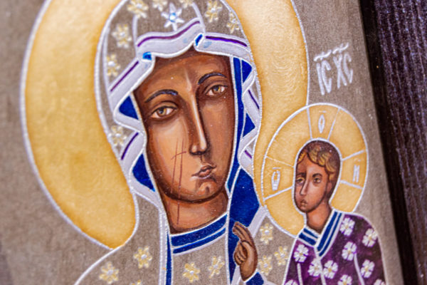 Икона Ченстоховской Божией Матери № 07 из мрамора, каталог икон, изображение, фото 8