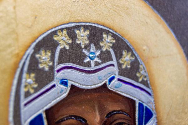 Икона Ченстоховской Божией Матери № 07 из мрамора, каталог икон, изображение, фото 9