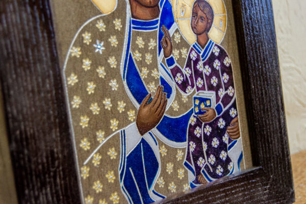 Икона Ченстоховской Божией Матери № 07 из мрамора, каталог икон, изображение, фото 10