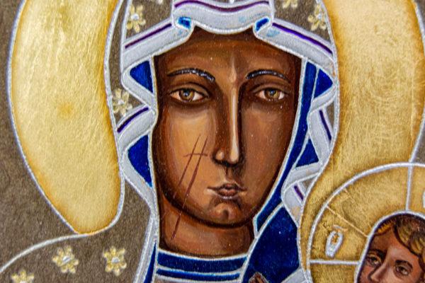 Икона Ченстоховской Божией Матери № 07 из мрамора, каталог икон, изображение, фото 11