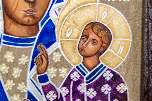 Икона Ченстоховской Божией Матери № 07 из мрамора, каталог икон, изображение, фото 12