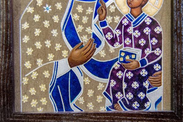 Икона Ченстоховской Божией Матери № 07 из мрамора, каталог икон, изображение, фото 13