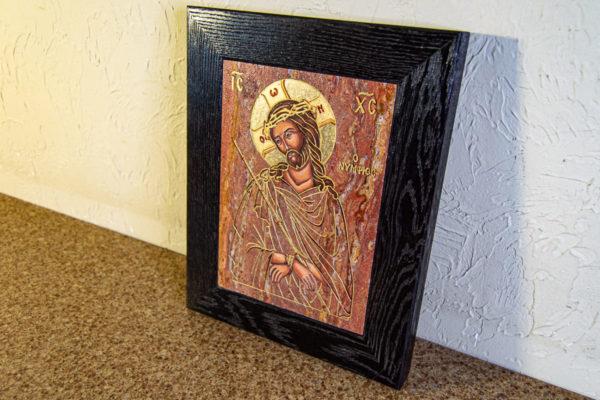 Икона Иисуса Христа - Царь Иудейский № 06 из мрамора, изображение, фото 3