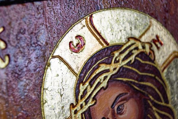 Икона Иисуса Христа - Царь Иудейский № 06 из мрамора, изображение, фото 4