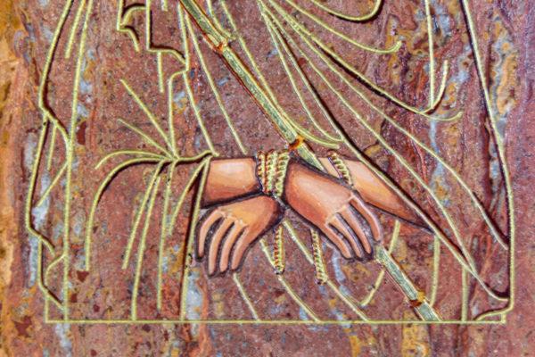 Икона Иисуса Христа - Царь Иудейский № 06 из мрамора, изображение, фото 6