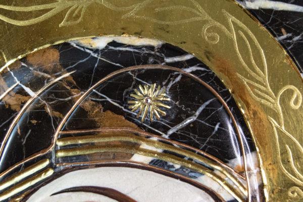 Икона Казанской Божией Матери № 3-12-9 из мрамора, камня, от Гливи, фото 4