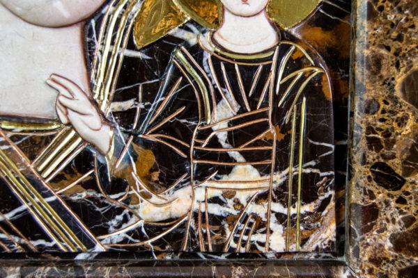 Икона Казанской Божией Матери № 3-12-9 из мрамора, камня, от Гливи, фото 9