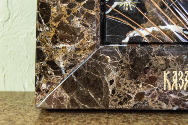 Икона Казанской Божией Матери № 3-12-9 из мрамора, камня, от Гливи, фото 11