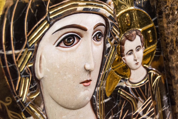 Икона Казанской Божией Матери № 3-12-9 из мрамора, камня, от Гливи, фото 13