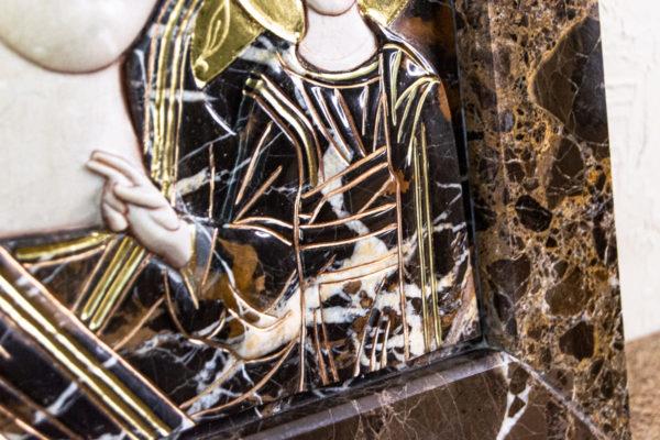 Икона Казанской Божией Матери № 3-12-9 из мрамора, камня, от Гливи, фото 16