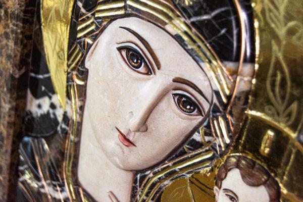 Икона Казанской Божией Матери № 3-12-9 из мрамора, камня, от Гливи, фото 19