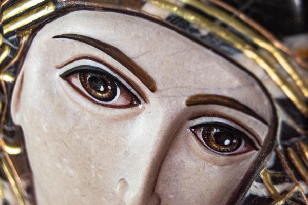 Икона Казанской Божией Матери № 3-12-9 из мрамора, камня, от Гливи, фото 21
