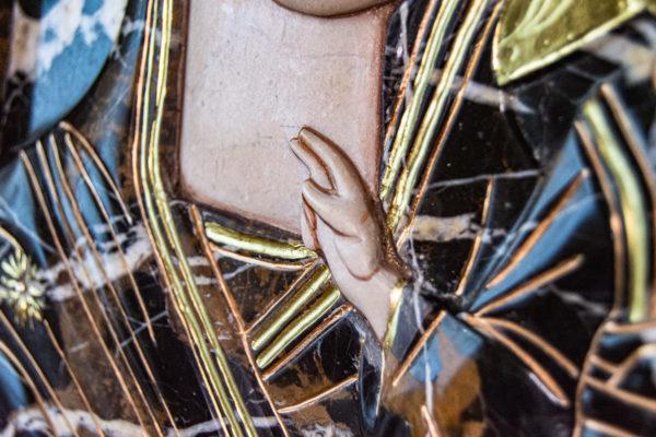 Икона Казанской Божией Матери № 3-12-9 из мрамора, камня, от Гливи, фото 23