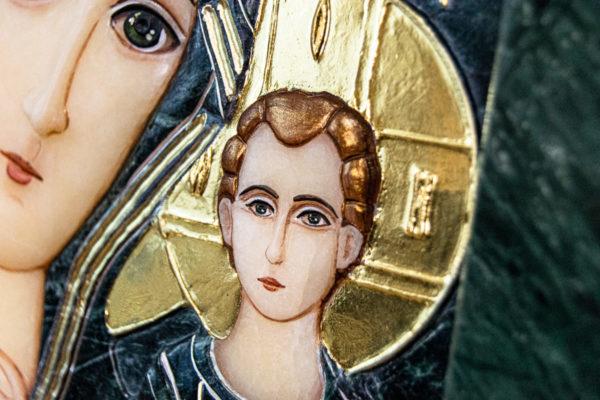 Икона Казанской Божией Матери № 4-12-3 из мрамора, камня, от Гливи, фото 5