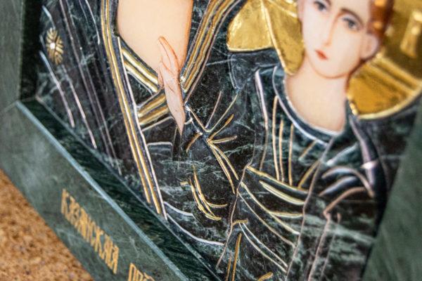 Икона Казанской Божией Матери № 4-12-3 из мрамора, камня, от Гливи, фото 10