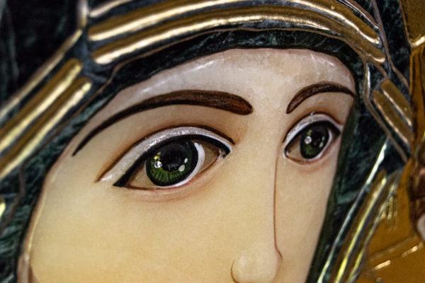 Икона Казанской Божией Матери № 4-12-3 из мрамора, камня, от Гливи, фото 12