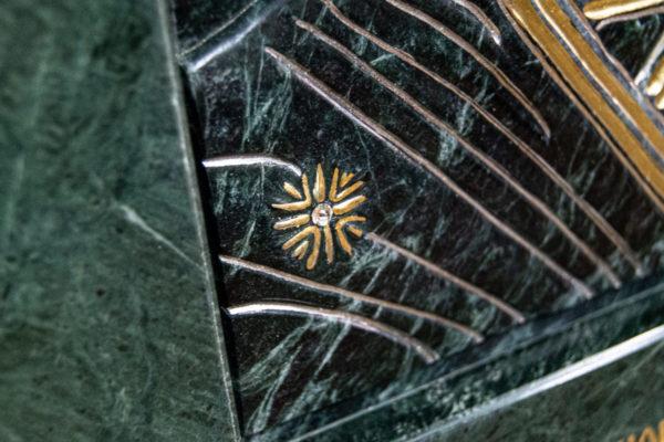 Икона Казанской Божией Матери № 4-12-3 из мрамора, камня, от Гливи, фото 14