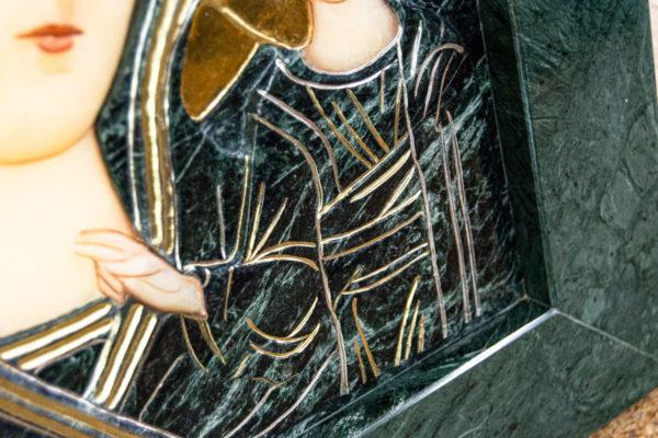 Икона Казанской Божией Матери № 4-12-3 из мрамора, камня, от Гливи, фото 15