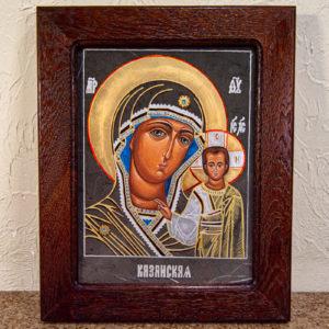 Икона Казанской Божией Матери № 44 подарочная из мрамора, камня, от Гливи, фото 1