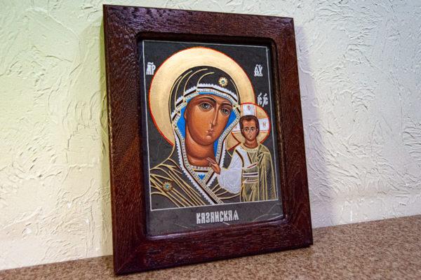 Икона Казанской Божией Матери № 44 подарочная из мрамора, камня, от Гливи, фото 2