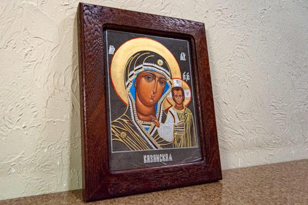 Икона Казанской Божией Матери № 44 подарочная из мрамора, камня, от Гливи, фото 3