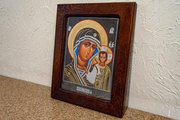 Икона Казанской Божией Матери № 44 подарочная из мрамора, камня, от Гливи, фото 4