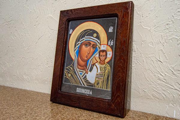 Икона Казанской Божией Матери № 44 подарочная из мрамора, камня, от Гливи, фото 5