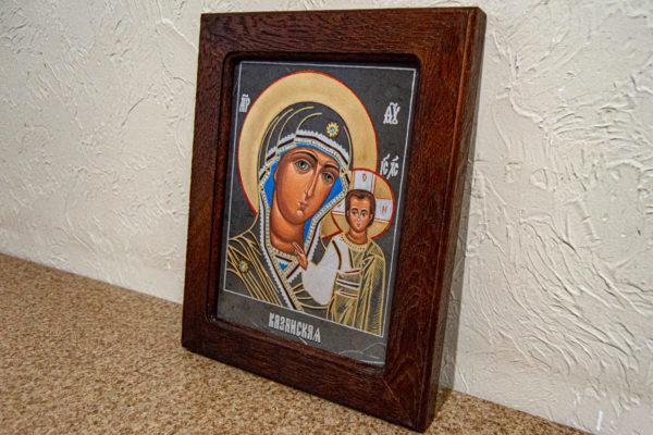 Икона Казанской Божией Матери № 44 подарочная из мрамора, камня, от Гливи, фото 6