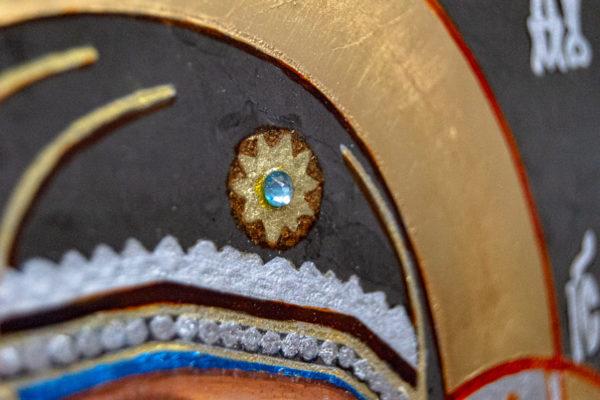 Икона Казанской Божией Матери № 44 подарочная из мрамора, камня, от Гливи, фото 7