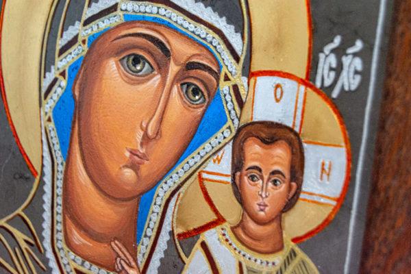 Икона Казанской Божией Матери № 44 подарочная из мрамора, камня, от Гливи, фото 9