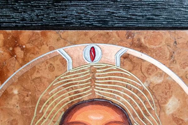 Икона Иисуса Христа - Спас Нерукотворный № 3-2 из мрамора, изображение, фото 4