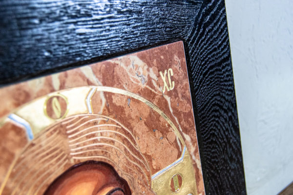 Икона Иисуса Христа - Спас Нерукотворный № 3-3 из мрамора, изображение, фото 4