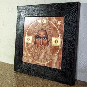 Икона Иисуса Христа - Спас Нерукотворный № 3-3 из мрамора, изображение, фото 6