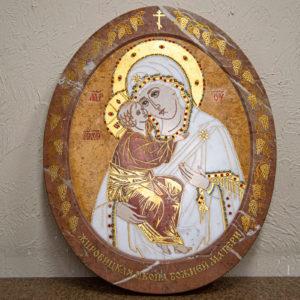 Икона Жировицкой (Жировичской) Божией Матери № 1.20-12 из мрамора, камня, изображение, фото 1