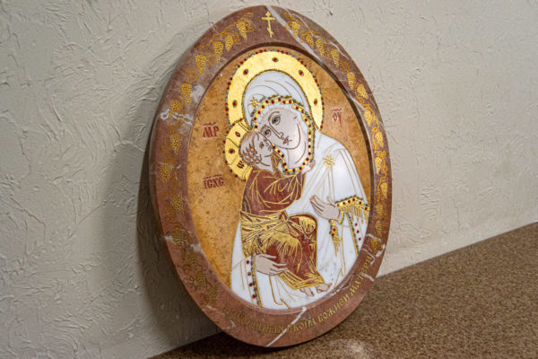 Икона Жировицкой (Жировичской) Божией Матери № 1.20-12 из мрамора, камня, изображение, фото 2