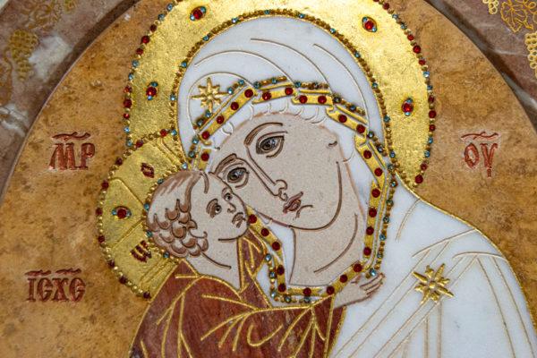 Икона Жировицкой (Жировичской) Божией Матери № 1.20-12 из мрамора, камня, изображение, фото 4