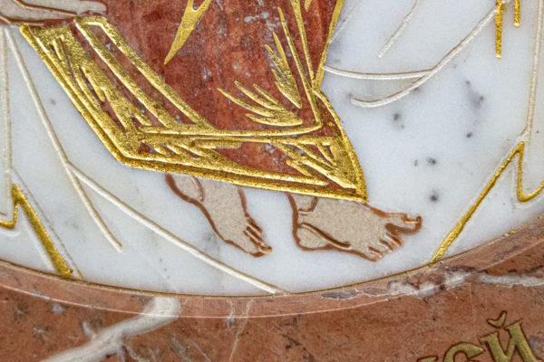 Икона Жировицкой (Жировичской) Божией Матери № 1.20-12 из мрамора, камня, изображение, фото 5