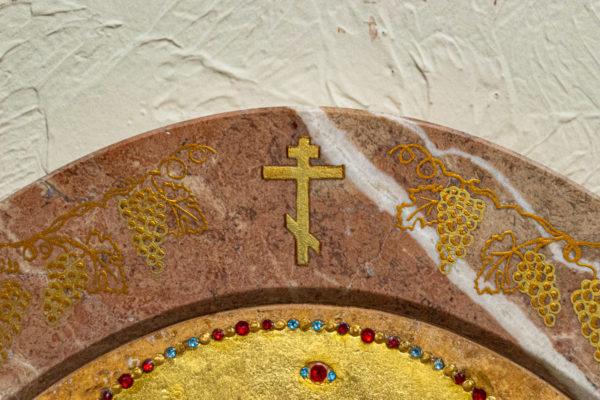 Икона Жировицкой (Жировичской) Божией Матери № 1.20-12 из мрамора, камня, изображение, фото 6