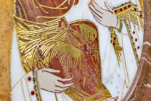 Икона Жировицкой (Жировичской) Божией Матери № 1.20-12 из мрамора, камня, изображение, фото 13