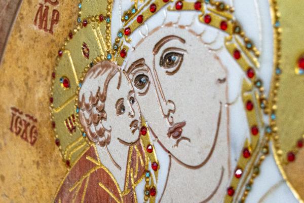 Икона Жировицкой (Жировичской) Божией Матери № 1.20-12 из мрамора, камня, изображение, фото 14