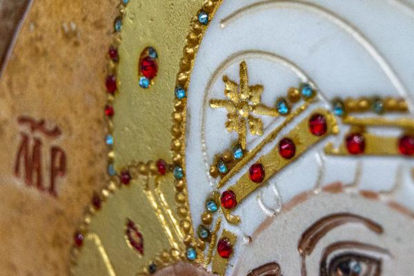 Икона Жировицкой (Жировичской) Божией Матери № 1.20-12 из мрамора, камня, изображение, фото 15