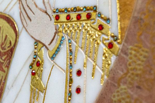 Икона Жировицкой (Жировичской) Божией Матери № 1.20-12 из мрамора, камня, изображение, фото 17