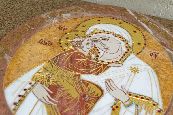 Икона Жировицкой (Жировичской) Божией Матери № 1.20-12 из мрамора, камня, изображение, фото 21