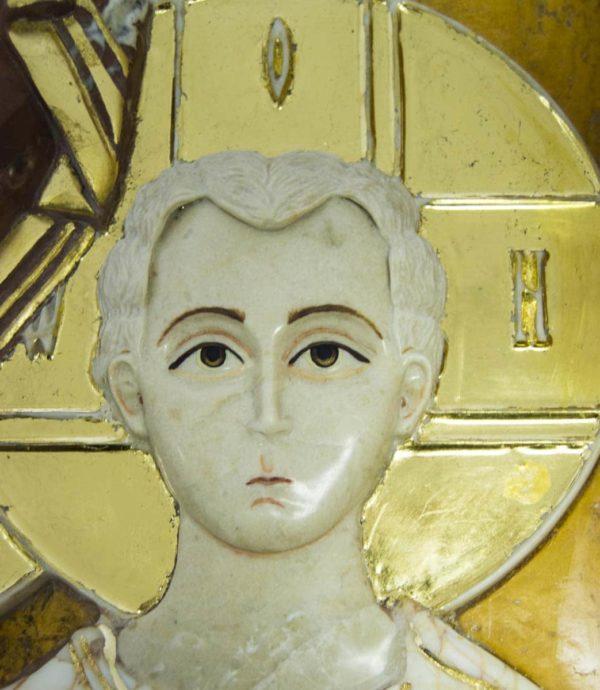 Икона Казанской Божией Матери (рельефная, храмовая) без № из мрамора, каталог икон, фото 6