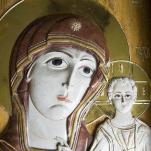 Икона Казанской Божией Матери (рельефная, храмовая) без № из мрамора, каталог икон, фото 7