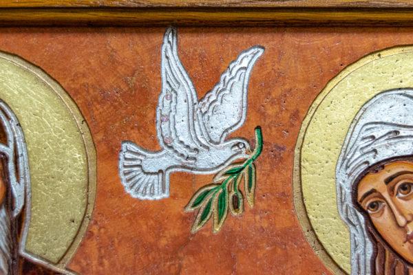 Икона Святых Саавы и Ирины № 01 из мрамора, интернет магазин икон, изображение, фото 17