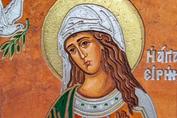 Икона Святых Саавы и Ирины № 01 из мрамора, интернет магазин икон, изображение, фото 18
